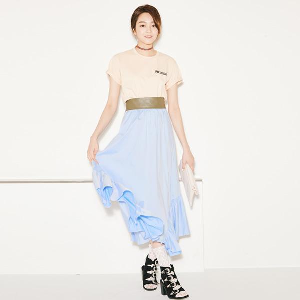 (SK-2633)フリルヘムラインスカート
