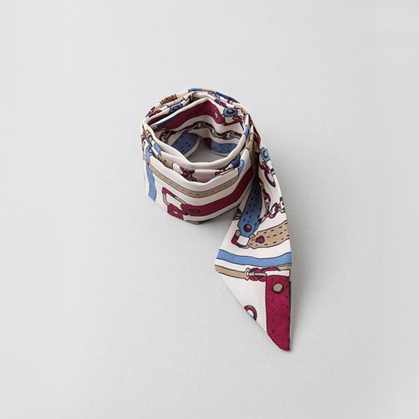 (ETC-2363)チェーンイラストスカーフ