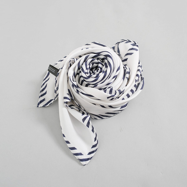 (ETC-2457)スクエアカラー配色スカーフ
