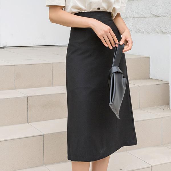 (SK-3515)シンプルソリッドラインスカート