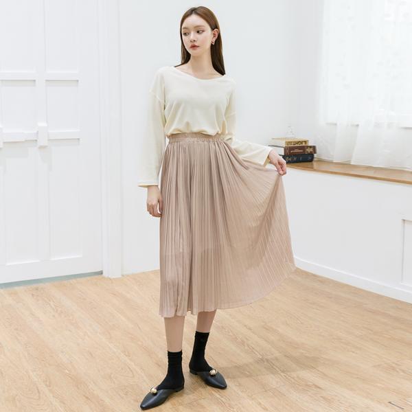 (SK-3541)シーポンプリッツバンディングスカート