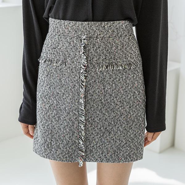 (SK-3417)マルチツイードセットアップスカート