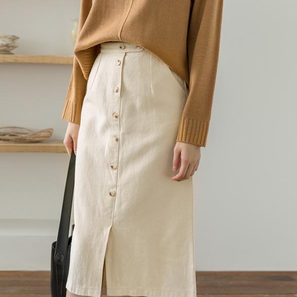 (SK-3556)クラシックボタンラインスカート